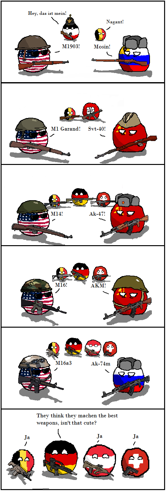 France And Germany At War Country Balls