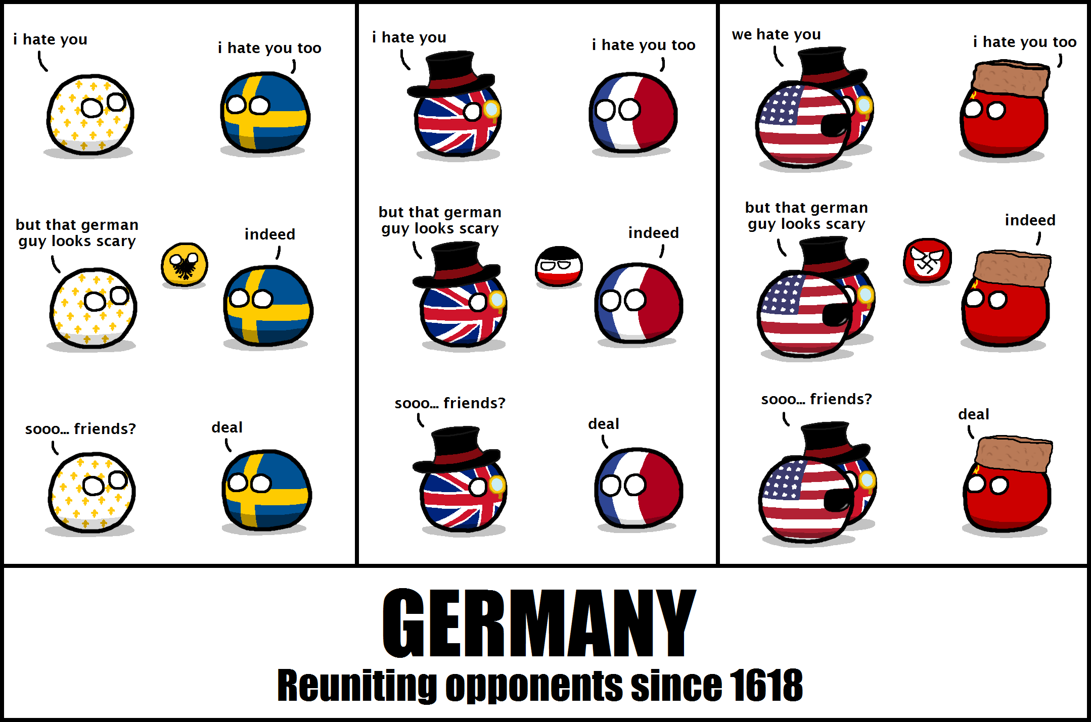 country balls germany reuniting opponents since 1618 germany reuniting opponents country balls