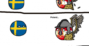 Poland and Sweden