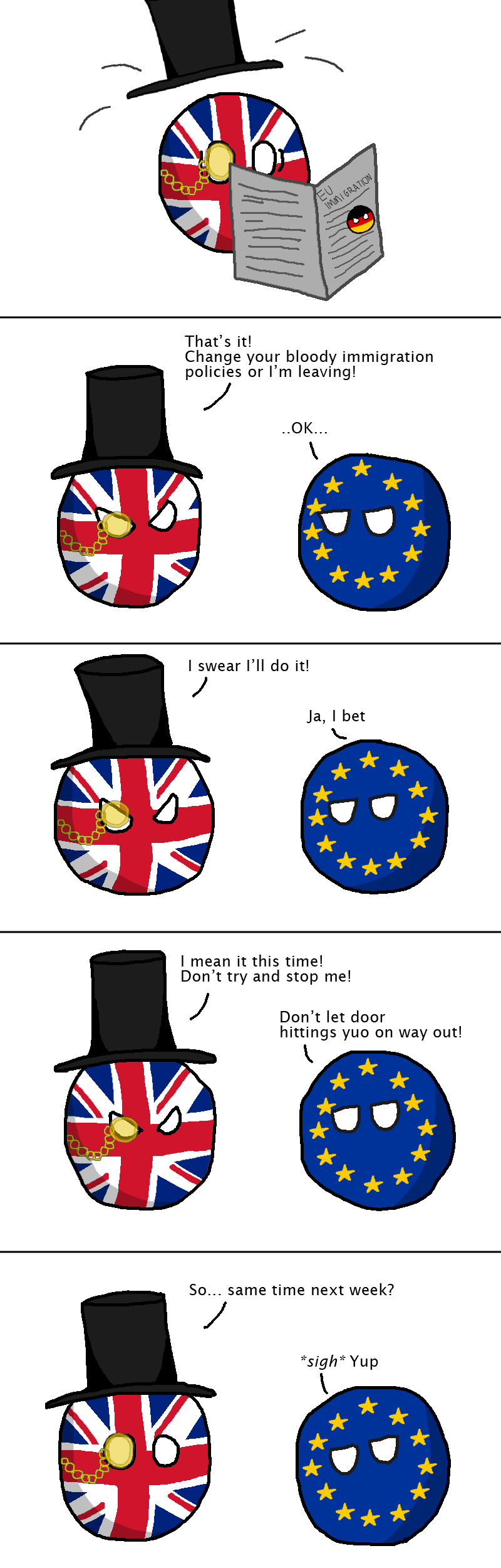 The UK leaves the EU...