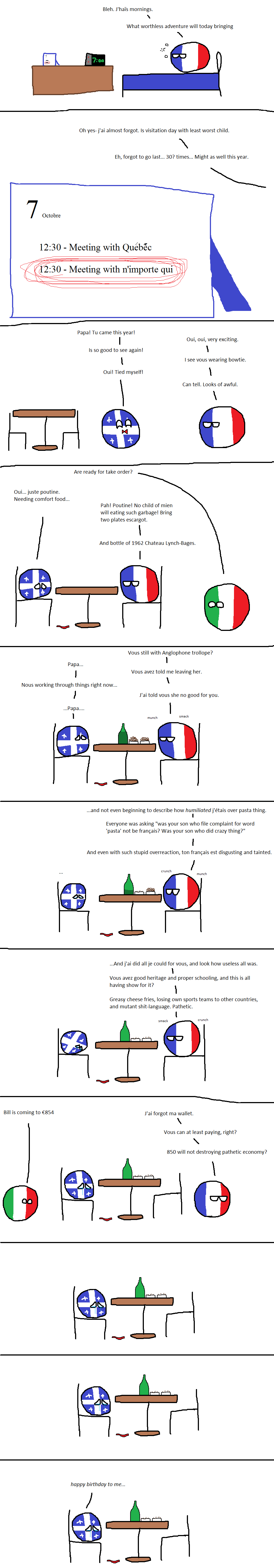 France is a bad father