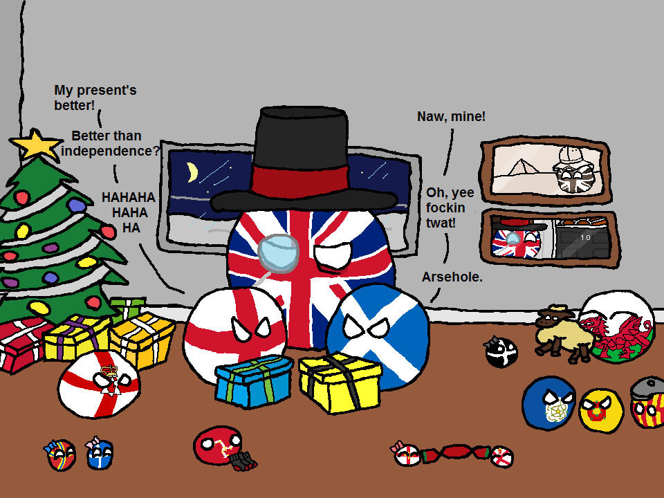 Polandball Advent Calendar 2014 - Day 12 - British Christmas