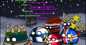 Polandball Advent Calendar 2014 - Day 13 - Sankta Lucia