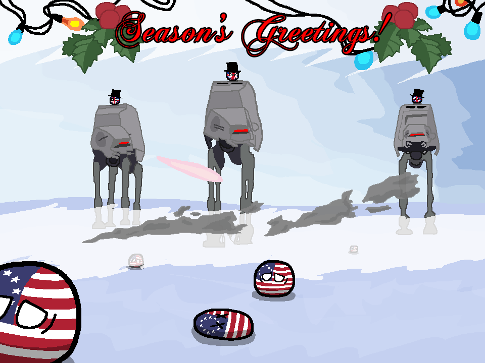 Polandball Advent Calendar 2014 - Day 20 - Season's Greetings from the Empire