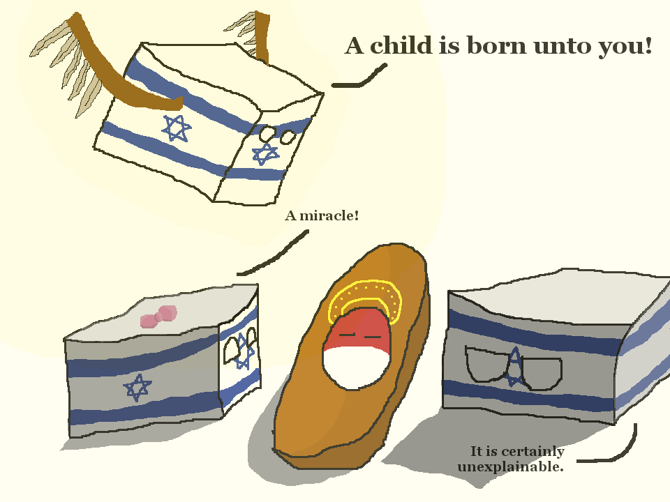 Polandball Advent Calendar 2014 - Day 25 - A Child is Born