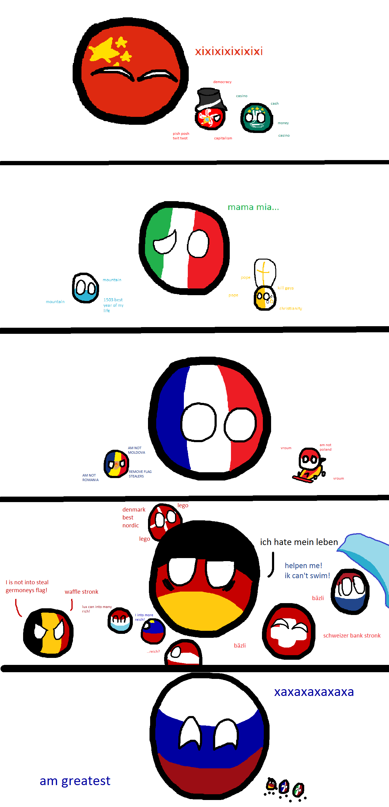 Countries and their small neighbours