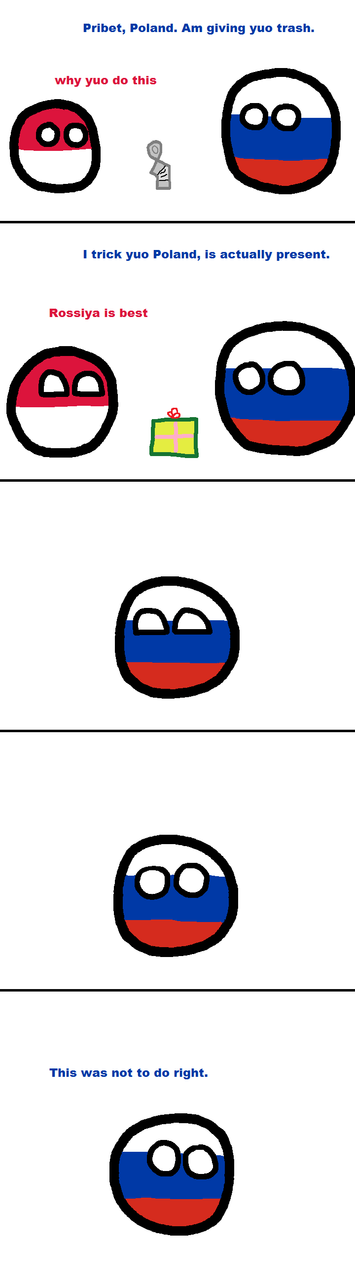 Russia didn't read the checklist