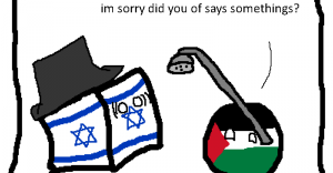 Comic describing the daily adventures of Israel and Palestine.