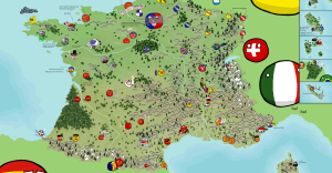 Polandball Map of France 2015