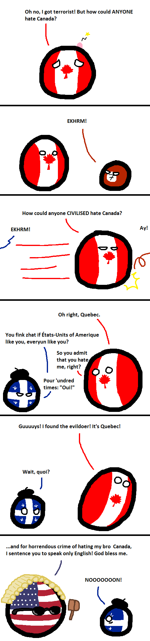 Comic about Canada