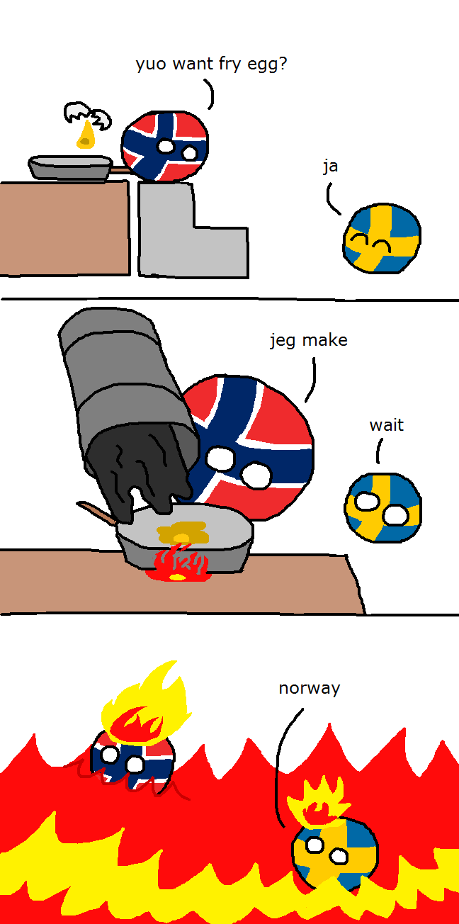 Norway fries an egg